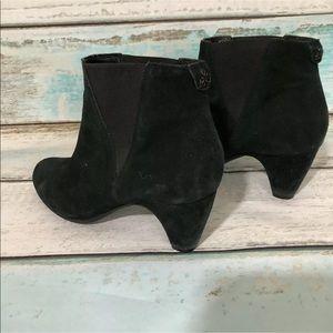 Sam Edelman Shoes - SAM EDELMAN Ankle Booties Black Suede Leather